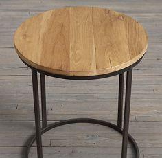Watts Reclaimed Russian Oak Round Side Tables