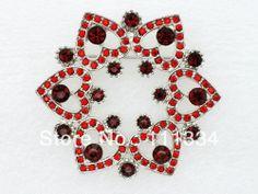 12 pcs Prom Party Red Rhinestone Brooch pin jewelry gift,fashion brooch,Wedding Flower heart shaped Crystal brooch C818 US $41.29