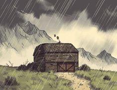 Animation inspiration by Lukasz Buda Pixel Art, Norman Rockwell, Anim Gif, Ligne Claire, Animation Reference, Art Plastique, Art Inspo, Game Art, Fantasy Art