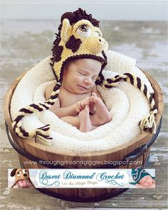 Crochet Pattern 025  Giraffe Earflap Hat  all by desertdiamond, $5.95