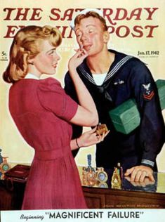1942-01-17: Sailor Sniffing Perfume (John Newton How... Saturday Evening Post