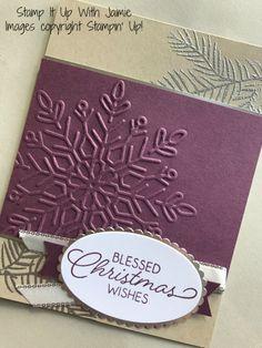 stampin up winter wonder embossing folder Christmas Cards 2017, Stampin Up Christmas, Christmas Settings, Noel Christmas, Xmas Cards, Handmade Christmas, Holiday Cards, Christmas Ideas, Christmas Crafts