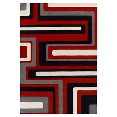 Alfombra Retro de Oriental Weavers, rojo