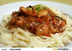"Čína "" Sečuán "" recept - TopRecepty.cz No Salt Recipes, Cooking Recipes, China Food, Spaghetti, Food And Drink, Menu, Ethnic Recipes, Heartburn, Chicken"