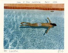 Paris Photo 2016, nos coups de cœur : David Hockney, John St Clair swimming april 1972, 1976 (Galerie 1900-2000)