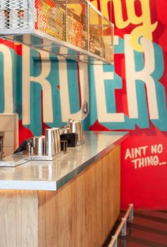 Type Murals! Wishbone Restaurant by Shed - via design-milk.com
