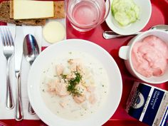 Get a Taste of Finnish School Lunch at MoMA Until October 12 School Lunch Menu, School Lunches, Salmon Soup, Serious Eats, Cheeseburger Chowder, Finland, A Food, Meals, Dining