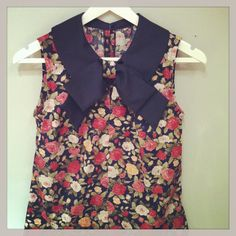 Plum and Pigeon floral blouse with bow