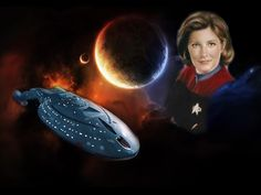 Star Trek Voyager - Captain Kathryn Janeway and the USS Voyager.