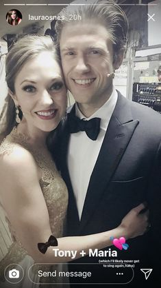Aaron Tveit and Laura Osnes