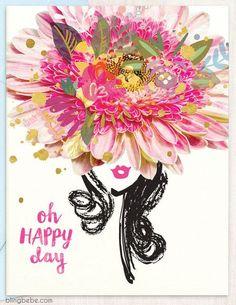 Oh Happy Day - blingbebe ::: greetings that shine Happy Birthday Wishes Messages, Birthday Greetings, Birthday Cards, Birthday Blessings, Happy Birthday Flower, Celebrate Good Times, Birthday Woman, Flower Petals, Flower Art