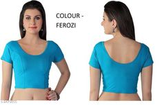 Checkout this latest Blouses Product Name: *Stylish Cotton Lycra Hosiery Blouse* Fabric: Cotton Lycra Hosiery Sleeves: Sleeves Are Included Size: Up To 28 To 36 in (Free Size) Length: Up To 15 in Type: Stitched Description: It Has 1 Piece Of Women's Blouse Pattern: Solid Country of Origin: India Easy Returns Available In Case Of Any Issue   Catalog Rating: ★4 (695)  Catalog Name: Janasya Stylish Cotton Lycra Hosiery Readymade Blouse Vol 20 CatalogID_333105 C74-SC1007 Code: 522-2479855-153