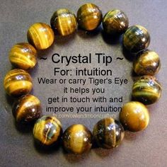 Tiger's Eye - Crystal Tip - For Intuition