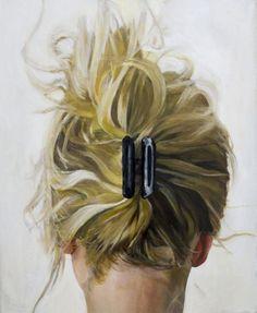 "Saatchi Online Artist: Cezary Kielar; Oil, 2013, Painting ""Portrat of Anna 2"" Its the back of my head!!"