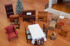 The Franklin Mint Memories of Christmas Dollhouse Norman Rockwell Doll House 8