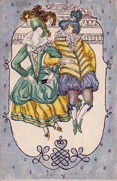 1002.Fritzi Löw - Wiener Werkstatte postcard
