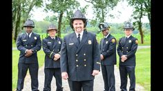 Look at these heroes! The groom and his groomsmen look soo proud and handsome in their Class A uniforms. This fireman is committed to his job and for sure to his wife! What a beautiful wedding, full of love. Photo credit - Life Flashes Photography by Takeshia