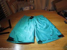 Mens active basketball shorts Green 340 basketball 480400 XL pockets draw string