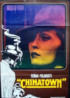 Chinatown German poster. One in a series of 8. Faye Dunaway