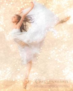 Flight of Dance:  A Ballet Mixed Media Fine Art Reproduction Print