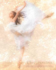 Flight of Dance:  A Ballet Mixed Media Fine Art by ChezLorraines