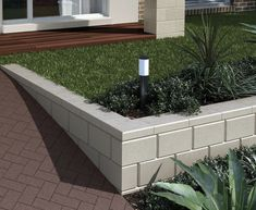 The Number One Article on Garden Steps on a Slope Retaining Walls Landscaping Retaining Wall Design, Retaining Wall Blocks, Garden Retaining Wall, Landscaping Retaining Walls, Concrete Blocks, Front Yard Landscaping, Garden Steps, Garden Edging, Curved Walls