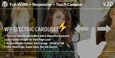 #Wordpress_Plugins #carousel #editorial WP Electric Carousel – Full Width Touch Responsive Lazy Load Slider: Get WP Electric Carousel –…