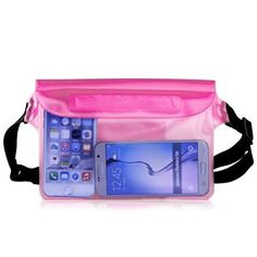Waterproof Pouch Case Pama Dry Bag with Waist Strap Lightweight and Big Space for Beach Swimming Boating Fishing camping Perfect Protection for Phone Cash From Water Sand Dust and Dirt Pink * Details can be found by clicking on the image.