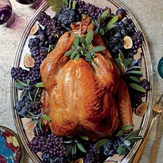 """Brining a turkey is well worth the day-ahead time investment. It removes all guesswork, producing an incredibly moist bird that's more forgiving of being slightly overcooked. If you can't find an organic turkey, look for a fresh one without """"added solution."""""""