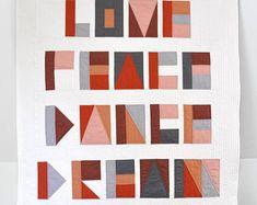 Modern quilt, baby quilt, crib quilt, baby blanket, stroller quilt, lap quilt, wall hanging, modern wall quilt, minimalist quilt