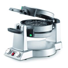 Why wait for waffles? Double your breakfast output with Waring's dual-sided Belgian waffle maker. It makes two thick, delicious waffles at the same time, baked to perfection with extra-deep pockets that put more syrup and toppings in every bite Waffle Maker Reviews, Best Waffle Maker, Belgian Waffle Maker, Belgian Waffles, Omelettes, Crepes, Best Omelette, Pancake, Kitchen