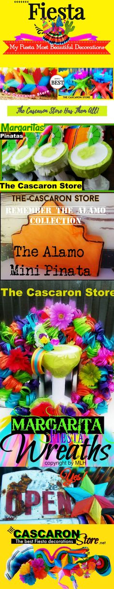 Fiesta Table Decorations & event fiesta display designs margaritas mini pinatas, extra small pinatas, pinatas Mexican cinco de mayo decorations are at The Cascaron Store is Fiesta Store Decorations Store. Fiesta Party Decorations, Fiesta Theme Party, Party Themes, Wedding Pinata, Mini Pinatas, Crepe Paper Flowers, Display Design, Decoration Table, Flower Centerpieces