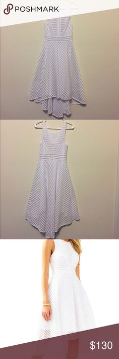"Lilly Pulitzer Tilly Midi Dress New With Tags! Tilly Midi resort white scoop neck dress with v shaped back. NWT!! This beautiful dress great for bridal showers or special occasions measures 14"" arm to arm, 12"" across at smallest part of waist, and 38"" from top to bottom hem in front and 46.5"" from top to bottom hemline in back.  Bought but sadly this dress runs smaller than most of the Lilly I've bought before. I'm normally a 0 in shift styles and XS in Tshirt styles. This dress has never…"
