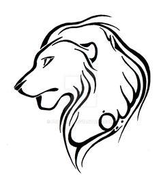 Tattoo Commission - Lion by Fjallira on DeviantArt Arabic Calligraphy Tattoo, Caligraphy, Tattoos Gallery, Tribal Tattoos, Tattoo Designs, Lion, Deviantart, Negative Space, Rose
