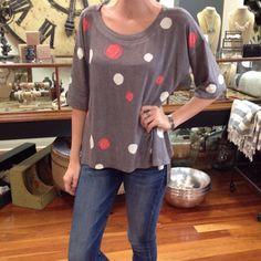 pretty in polka dots.  #onesizefitsmost #nallyandmillie #polkadot #tistheseason #holiday #shoplocal #shopjuxtapose #Padgram