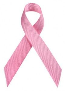 Pink cancer awareness ribbon. Please support the cause.