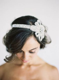 crystal headband // photo by Jen Huang, accessory by Olivia Nelson, styling by Borrowed Blu // view more: http://ruffledblog.com/borrowed-blu-bridal-accessories