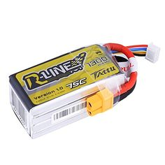 Tattu RLine 148V 1300mAh 4S LiPo Battery Pack 75C with XT60 Plug for FPV Racing Nemesis 240 Skylark Emax Nighthawk ZMR QAV 250 -- You can find out more details at the link of the image-affiliate link. #Drone