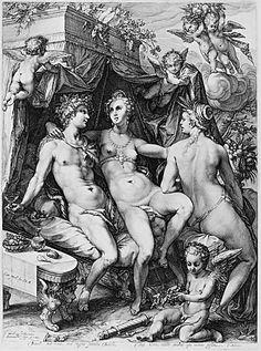 Venus, Ceres and Bacchus - Jan (Pietersz.) Saenredam