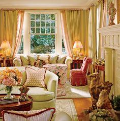 pretty, fresh, elegant living room