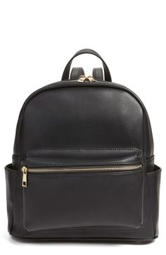 Free shipping and returns on BP. Faux Leather Mini Backpack at Nordstrom.com. Perfect for the girl on the go, this diminutive structured backpack is fashioned from sleek faux leather in a campus-classic style and upgraded with golden hardware for a little extra shine.