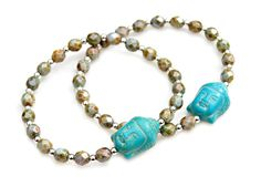 Hey, I found this really awesome Etsy listing at https://www.etsy.com/listing/277153534/buddha-bead-bracelet-turquoise-carved