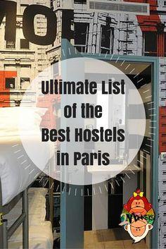 ultimate list of the best hostels in paris