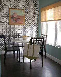 Charcoal Gray Trellis from Schumacher available at walnut wallpaper #wallpaper