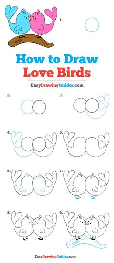 Learn How to Draw Love Birds: Easy Step-by-Step Drawing Tutorial for Kids and Beginners. #LoveBirds #DrawingTutorial #EasyDrawing See the full tutorial at https://easydrawingguides.com/how-to-draw-love-birds/.