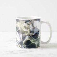 Elegant Abstract Artful White and Blue Coffee Mug - elegant gifts gift ideas custom presents