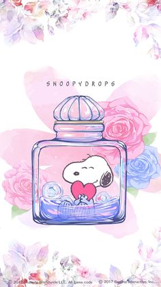 #SNOOPY #スヌーピー(フローラル) Snoopy Love, Charlie Brown Y Snoopy, Snoopy And Woodstock, Snoopy Wallpaper, Cartoon Wallpaper, Peanuts Cartoon, Peanuts Snoopy, Snoopy Pictures, Animated Cartoon Characters