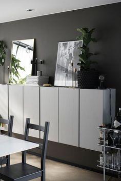 Painted Ikea 'Ivar' cabinets Painted Ikea 'Ivar' cabinets Our new basement cabinets! We used Ikea Besta…Schrank IVAR Kiefer – Lisa CorvusHej bei IKEA Österreich – Tatjana Buchorn Ikea Ivar Cabinet, Ikea Bookcase, Bookcases, Ikea Living Room, Interior Design Living Room, Interior Decorating, Decorating Tips, Ikea Eket, Espresso Kitchen Cabinets