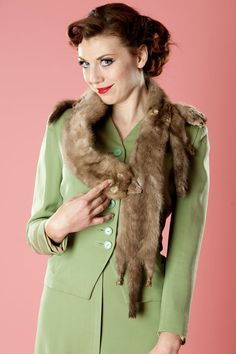 Vintage 1930s Mink Fur Scarf Wrap #vintage #fur #1930s #1940s #fallfashions #scarf #Mink @Etsy