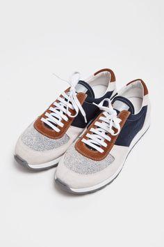 Mixed Material & Texture Shoe Construction | Men's #Footwear Details
